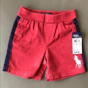 Polo RL Red Shorts with Blue Size 18 mos NWT